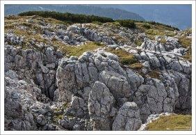 Горный массив Дахштайн состоит из гипса, известняка, вкраплений мрамора, доломита, и каменной соли.