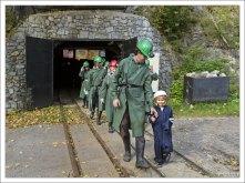 На выходе из графитовой шахты.