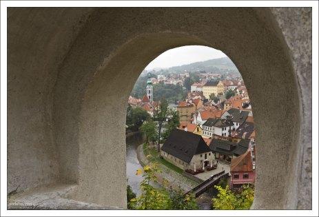 Мост, ведущий в Крумловский замок.