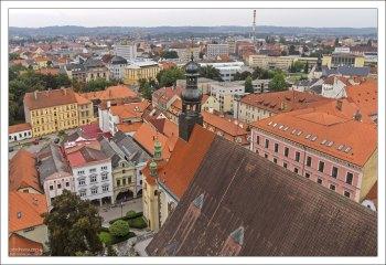 Центр Чески-Будеёвице с высоты Чёрной башни.