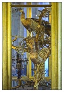 """Часы """"Павлин"""" в Эрмитаже (18-й век)."""
