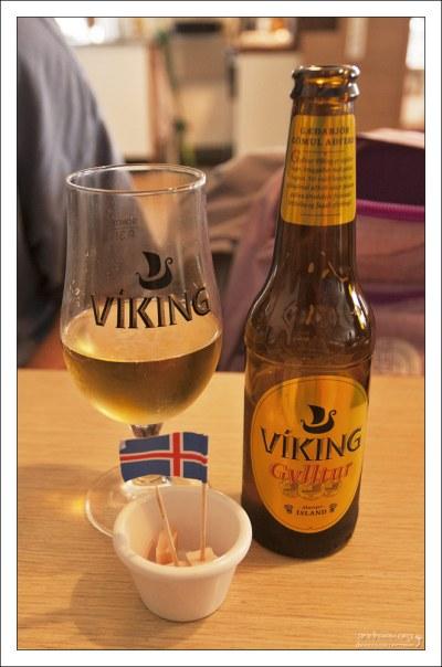 Местное пиво Viking и кубики хаукарля - тухлой акулы.