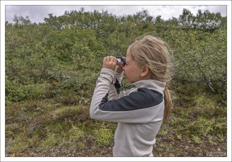 Саша выглядывает троллей на маршруте через долину :)