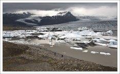 Ледниковое озеро Fjallsárlón.