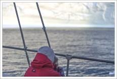 Встречаем новый день на борту судна в заливе Диско.