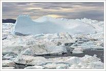 Ледяная толкучка в фьорде.