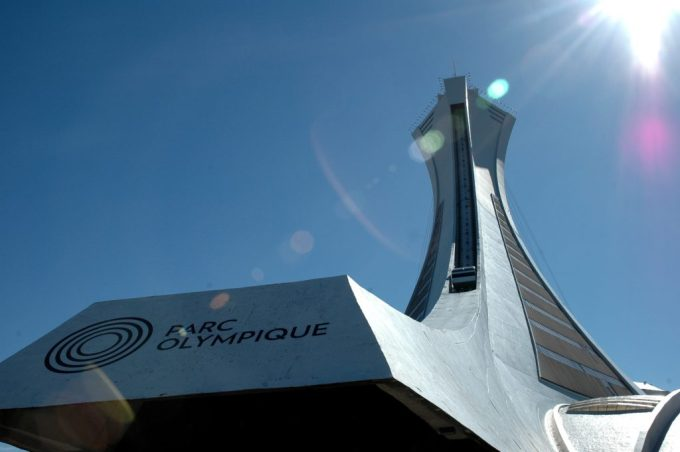 Montreal funicular in Olympic Park
