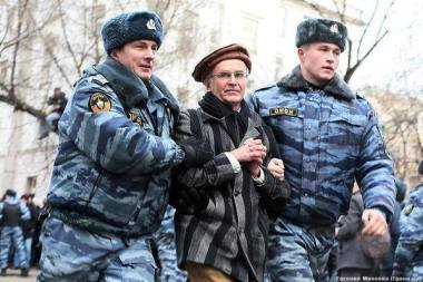 Andrei was detained after an action by the Zamoskvoretsky Court in Moscow, in February 2014. He came in support of those arrested for protests on Bolotnaya Square in 2011.