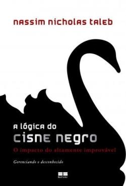 """Capa do livro """"A Lógica do Cisne Negro"""" de Nassim Taleb"""
