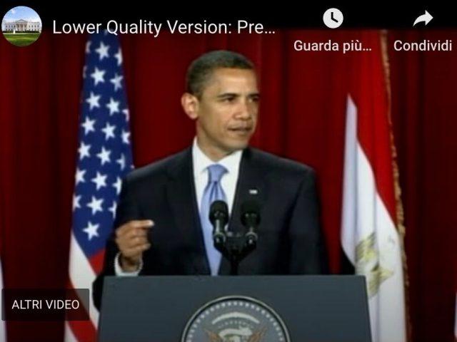 Il discorso di Obama al Cairo: un nuovo inizio