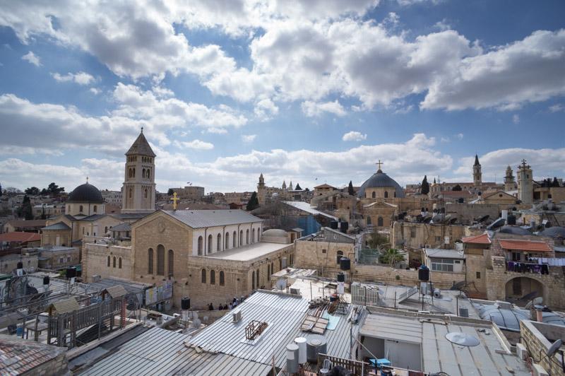 Gerusalemme vista dai tetti