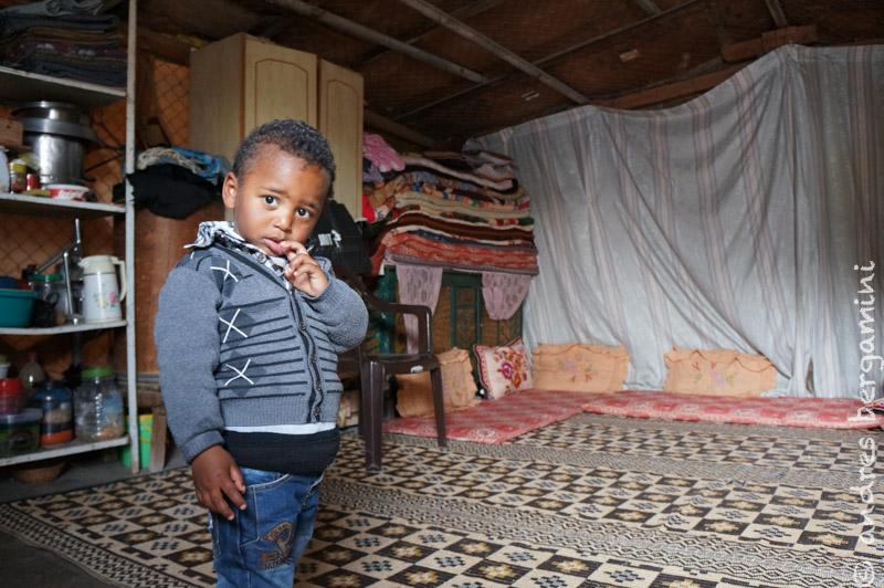 Scuole e famiglie povere nell'area rurale della Striscia di Gaza