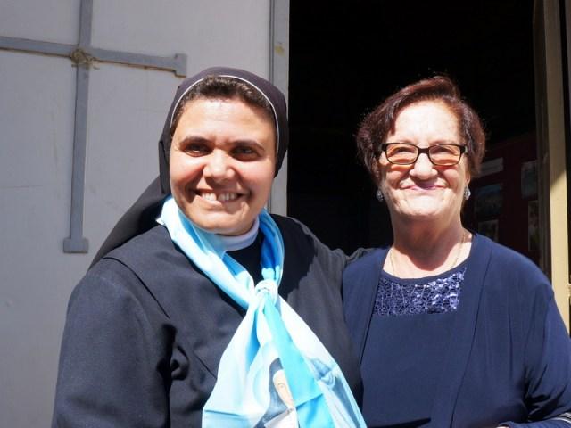 Domenica a Gaza, con Maria al collo