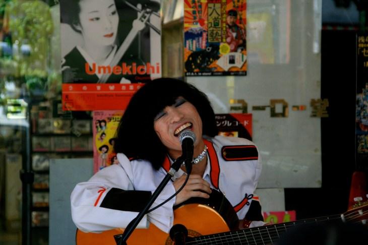 Japanese street singer