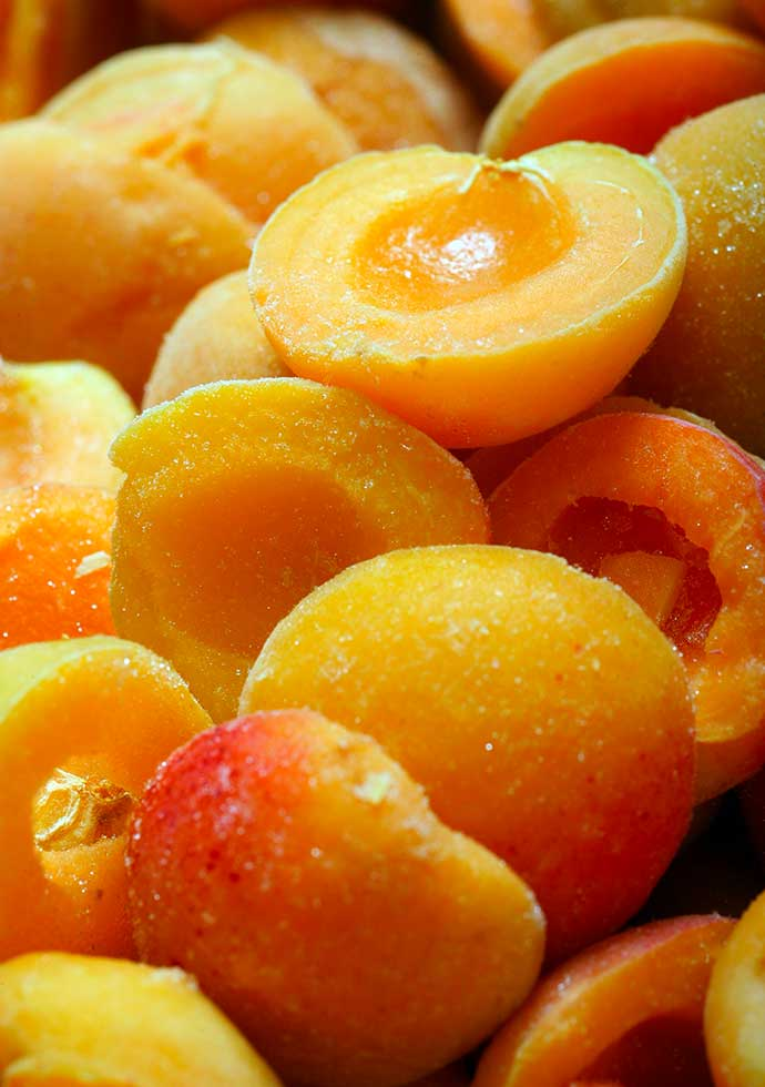 Sélection de fruits bio