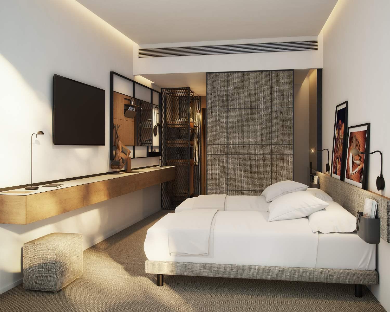 Infografias 3D para una habitacin de hotel  Renders Infografias  Visualizacin Arquitectnica 3D