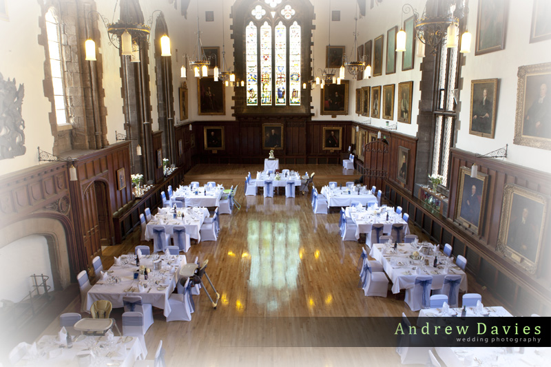wedding photos from Durham Castle north east wedding venue
