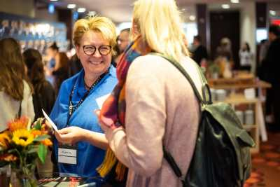 Attendees Networking Between Sessions