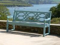 Blue Metal Garden Bench - Garden Inspiration
