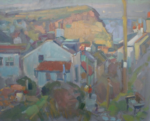 Oil painting of Staithes. En plein air. northernboys