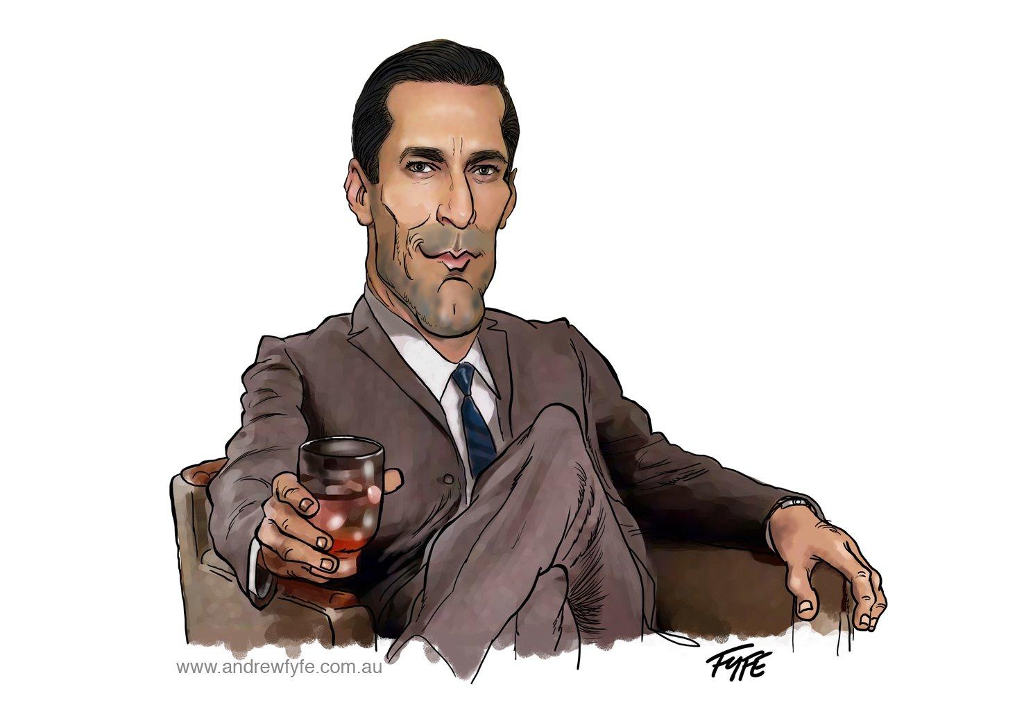 Don Draper, Don Draper caricature, caricatures