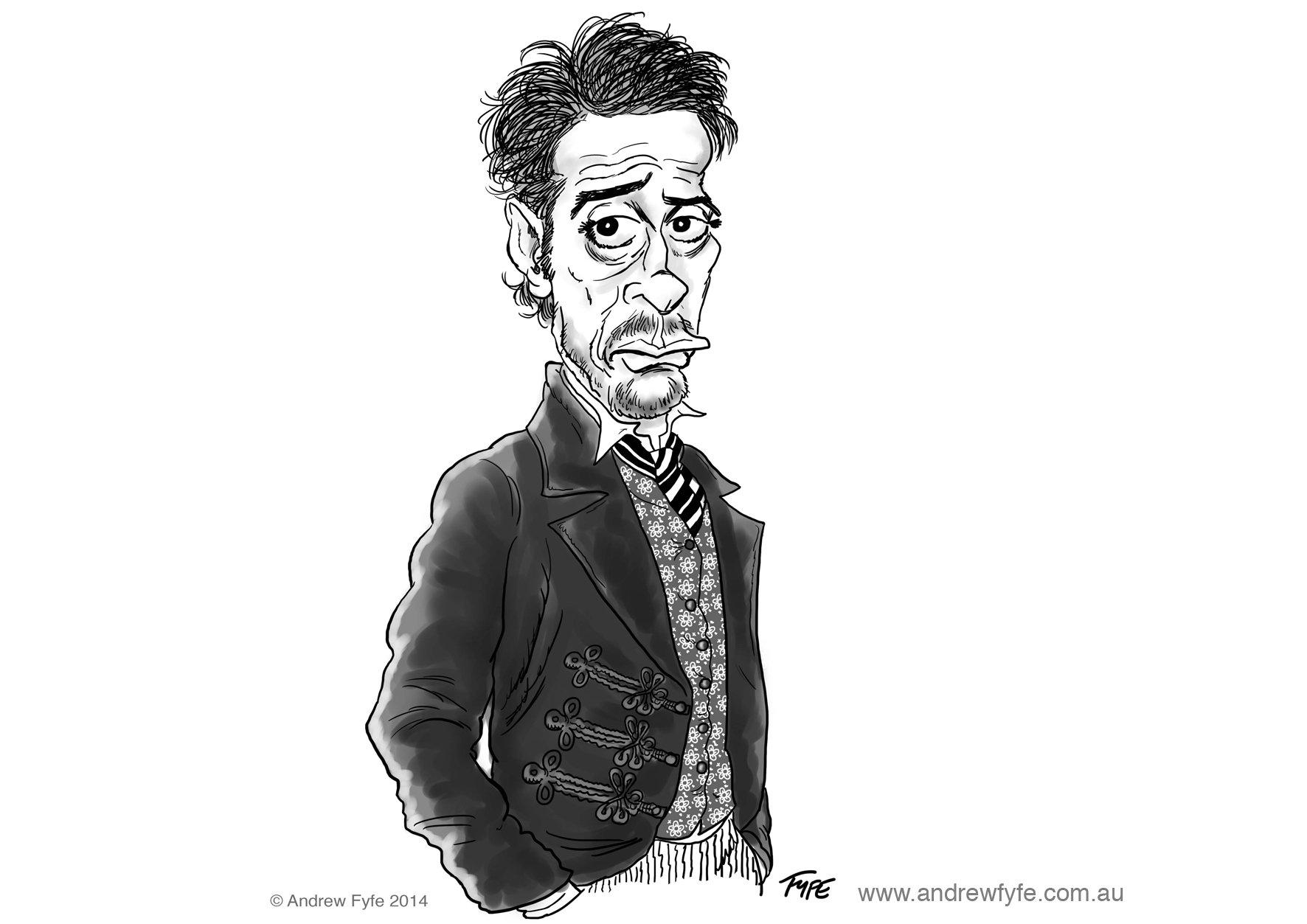 Robert Downey Jr caricature, Robert Downey Jr, Robert Downey Jr cartoon, Sherlock Holmes Robert Downey Jr,