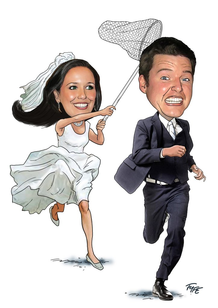 Caricature artist for weddings,