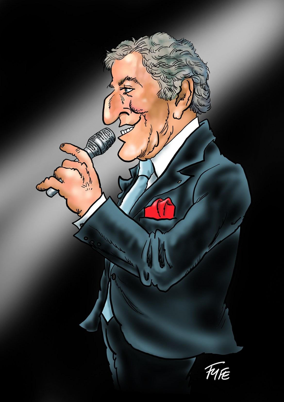 Tony Bennett, Tony Bennett caricature, Tony Bennett art