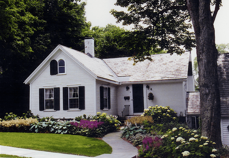 front yard of historic home andrew