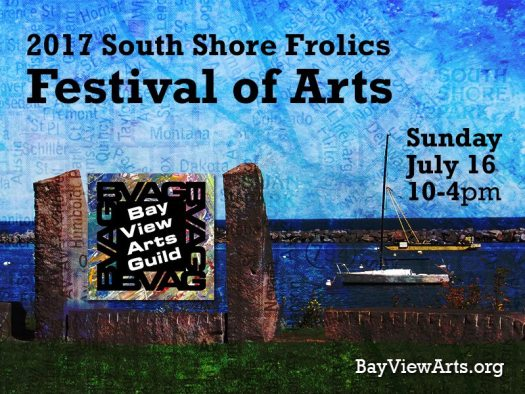 2017 South Shore Frolics Festival of Arts. Sunday, July 16 10-4 pm
