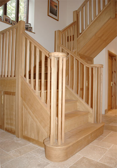 Andrew Lane Furniture  Solid oak staircase