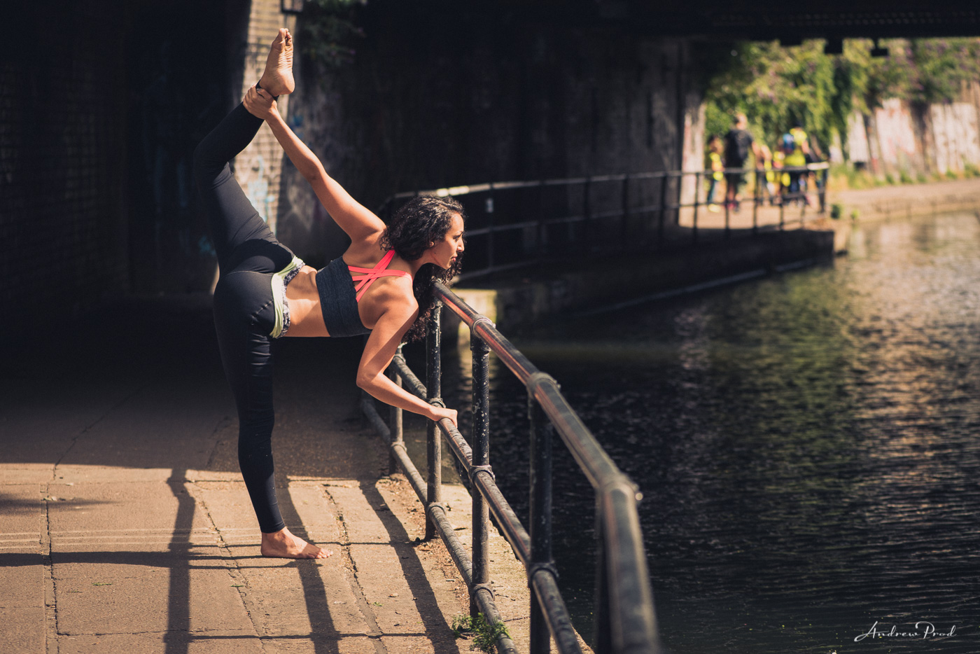 Camden Town Yoga photoshoot  Creative yoga portraits
