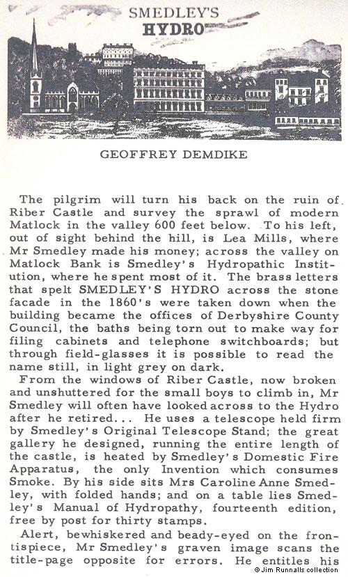 Matlock and Matlock Bath : Smedley's Hydro (1958)