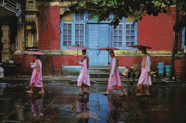 Procession of Nuns Burma by Steve McCurry