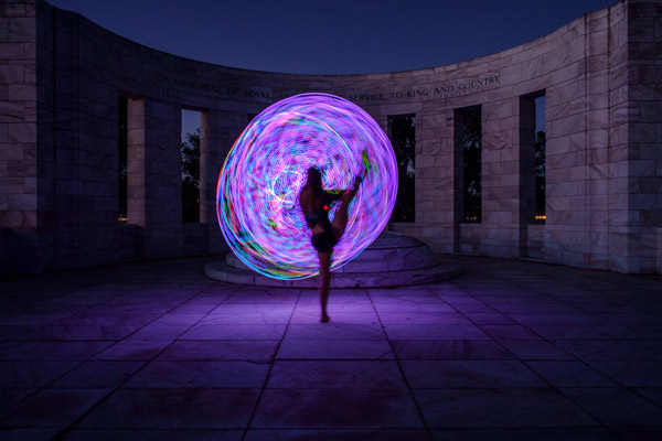 Painting with light and a FutureHoop