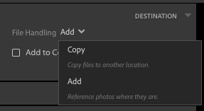 New Lightroom Import window