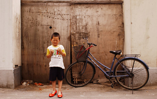 Photo of Red Shoes in Shanghai by Cat Vinton