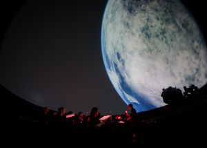 Concert in the Hayden Planetarium, Boston, May 2014.