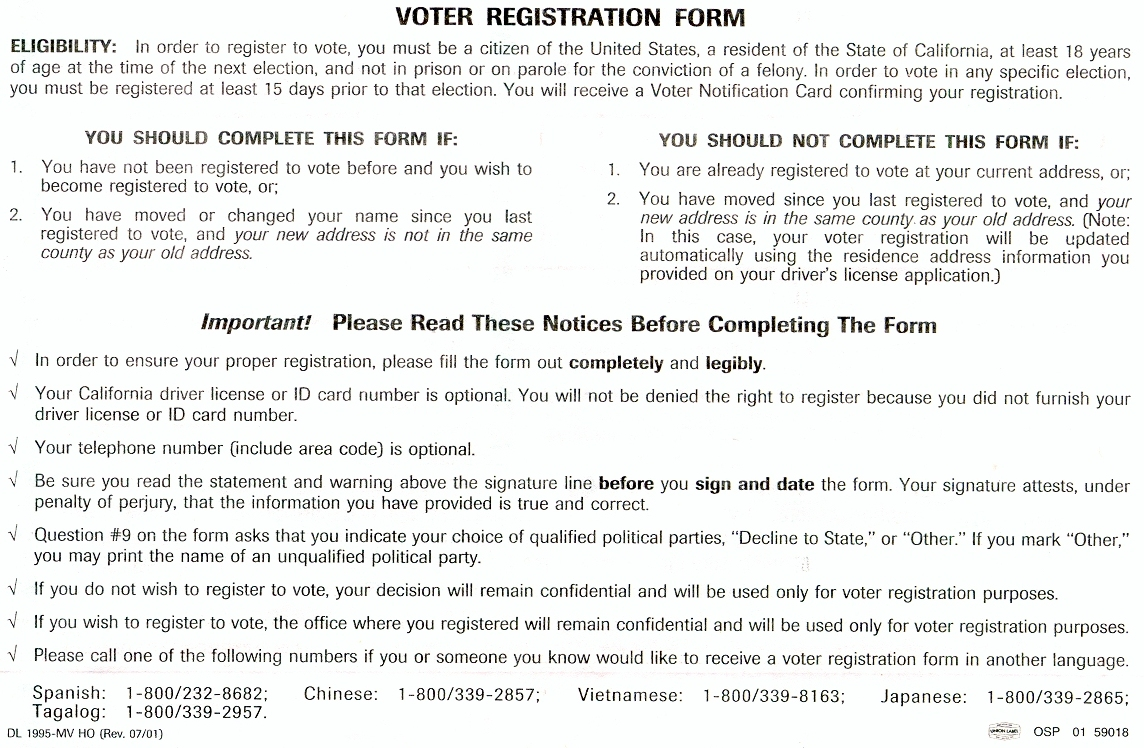 Department Of Motor Vehicles California Forms | caferacer.1firts.com