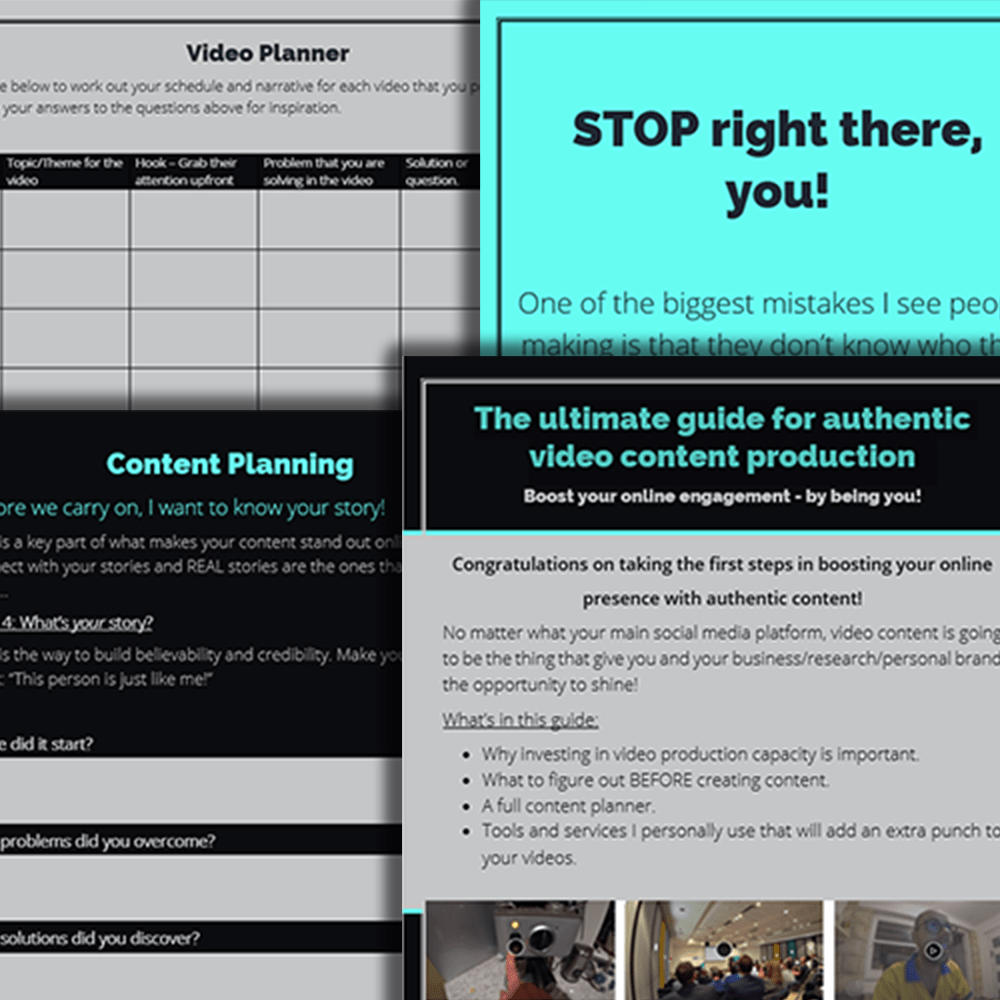 How to create an engaging video for YouTube, LinkedIn and more - FREE download