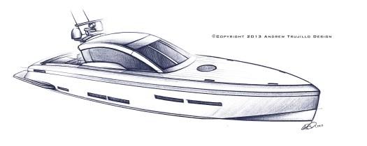 25 Metre motor yacht concept.