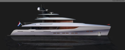 45 Metre motor yacht concept.