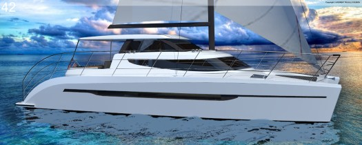 Gemini 42 Catamaran. Production yacht.