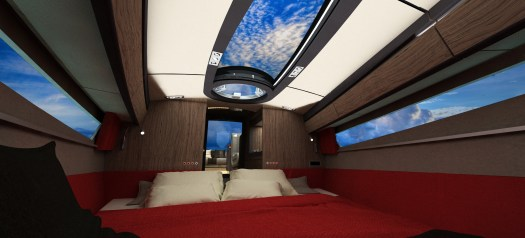 Cabin with double bed layout