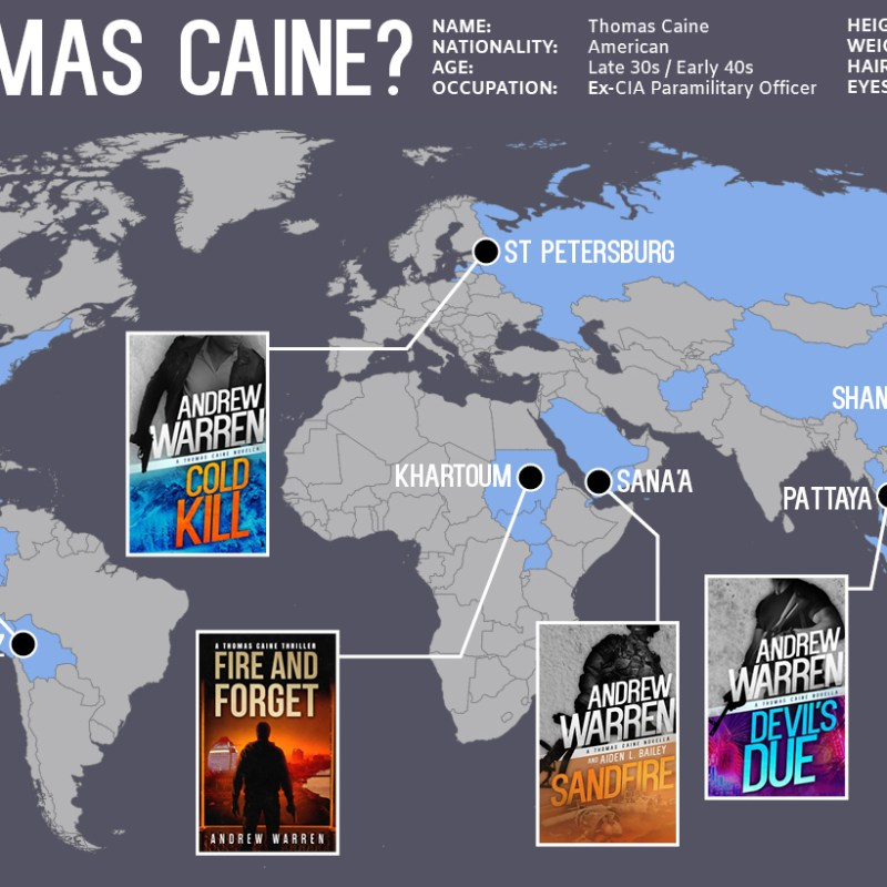 Where in the world is Thomas Caine?