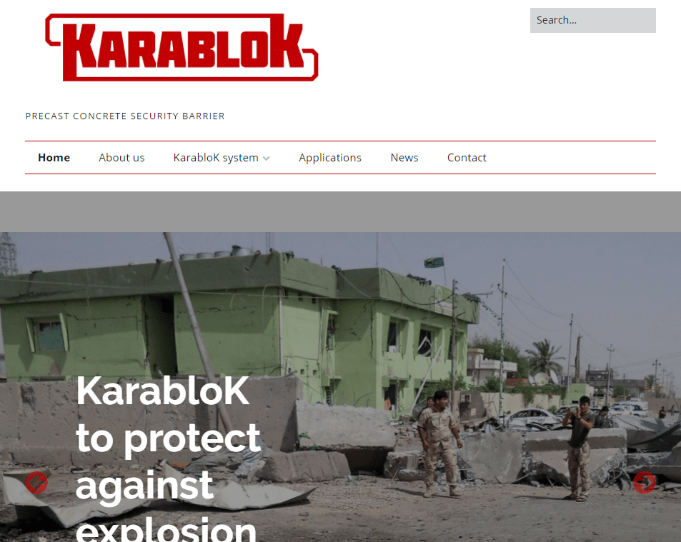 KarabloK – Precast concrete security barrier