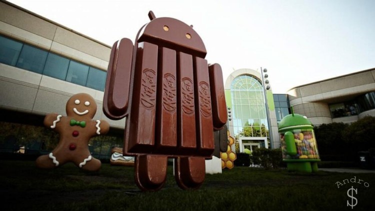Android KitKat Statue in front of Google HQ