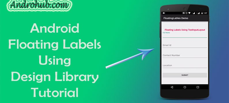 Android Material Design Floating Labels - Androhub