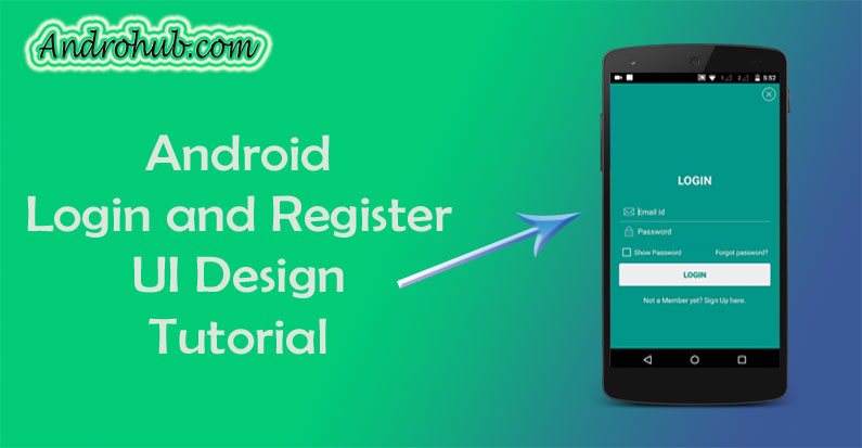 Login and SignUp UI Design Android - Androhub