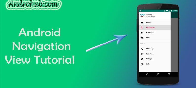 Navigation View-Material Design Support Library Tutorial - Androhub
